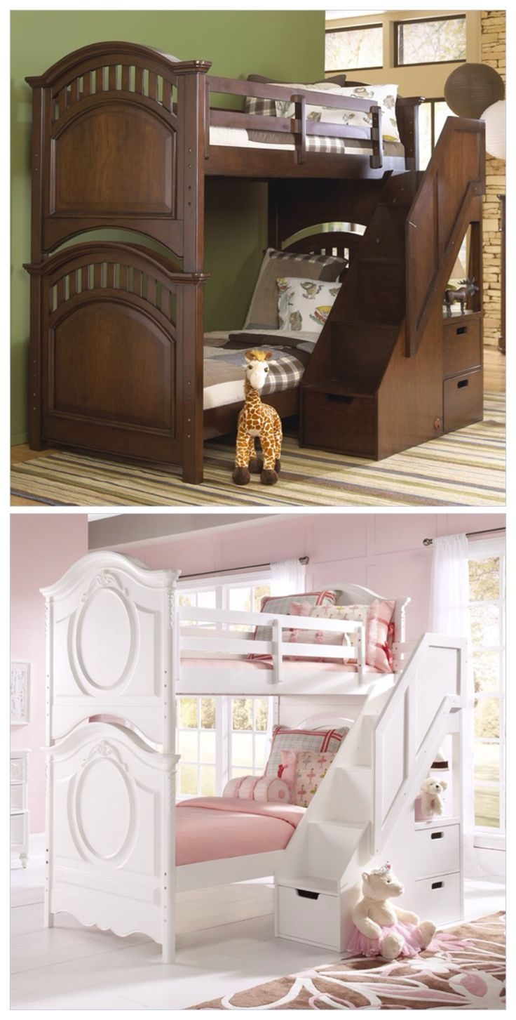 Perfect Study Loft bed for preteen girls rooms.                                                                                                                                                     More