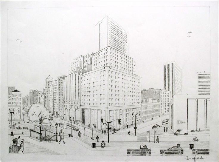 2 Point Perspective City Drawing 2 Point Perspective