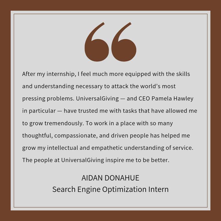 Testimonial from Aidan Donahue, Search Engine Optimization