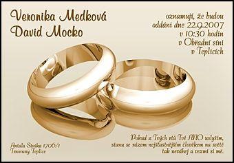 Svatební oznámení č. SO-089