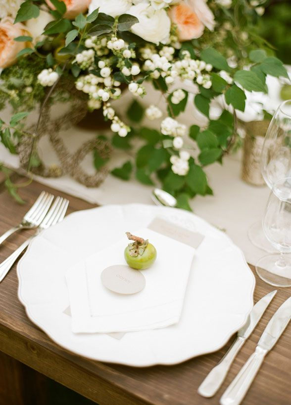 522 best vineyardwine wedding inspirations images on pinterest small tomato punctuate clean white place settings for an chic rustic feel wedding decorations junglespirit Choice Image