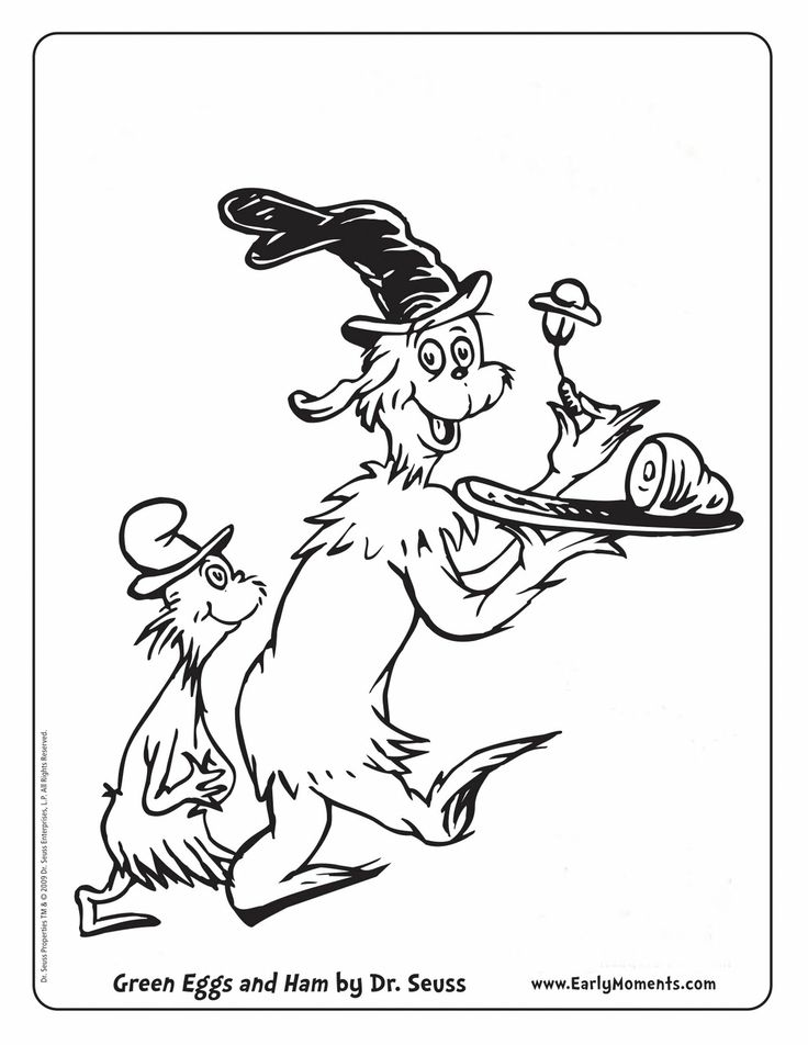 green eggs and ham coloring printable arts crafts pinterest