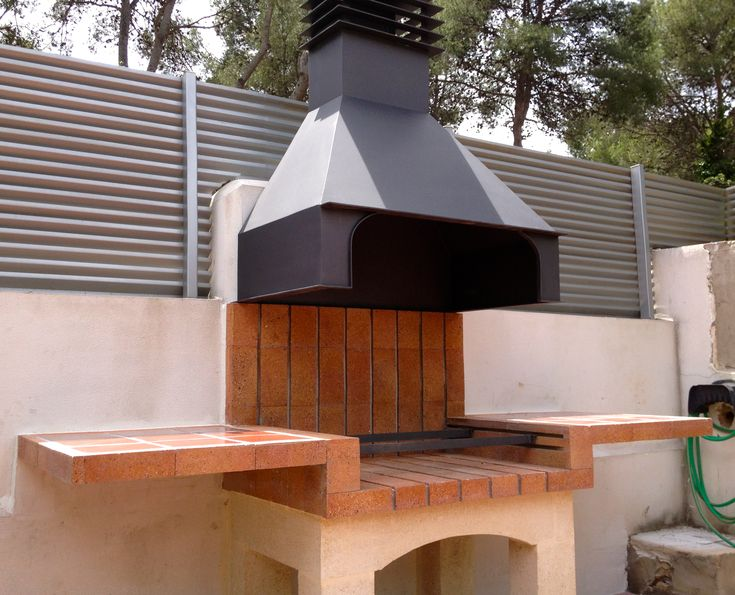 Asadores de ladrillo con chimenea buscar con google for Parrillas de barbacoa