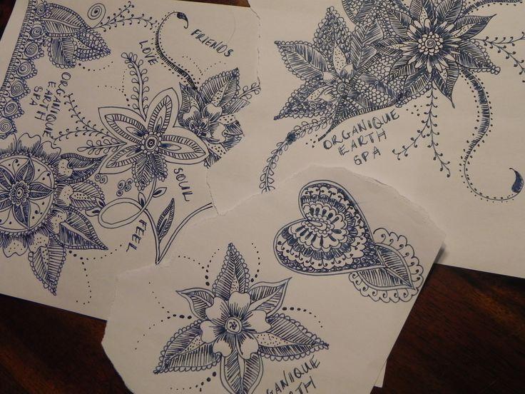 www.organiqueearthspa.com.au Organique Earth Spa - Mornington Day Spa experience. Creating some Organique artwork - practicing henna designs...