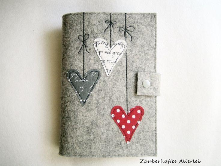 E-book Reader Tasche aus Wollfilz von Zauberhaftes Allerlei auf DaWanda.com