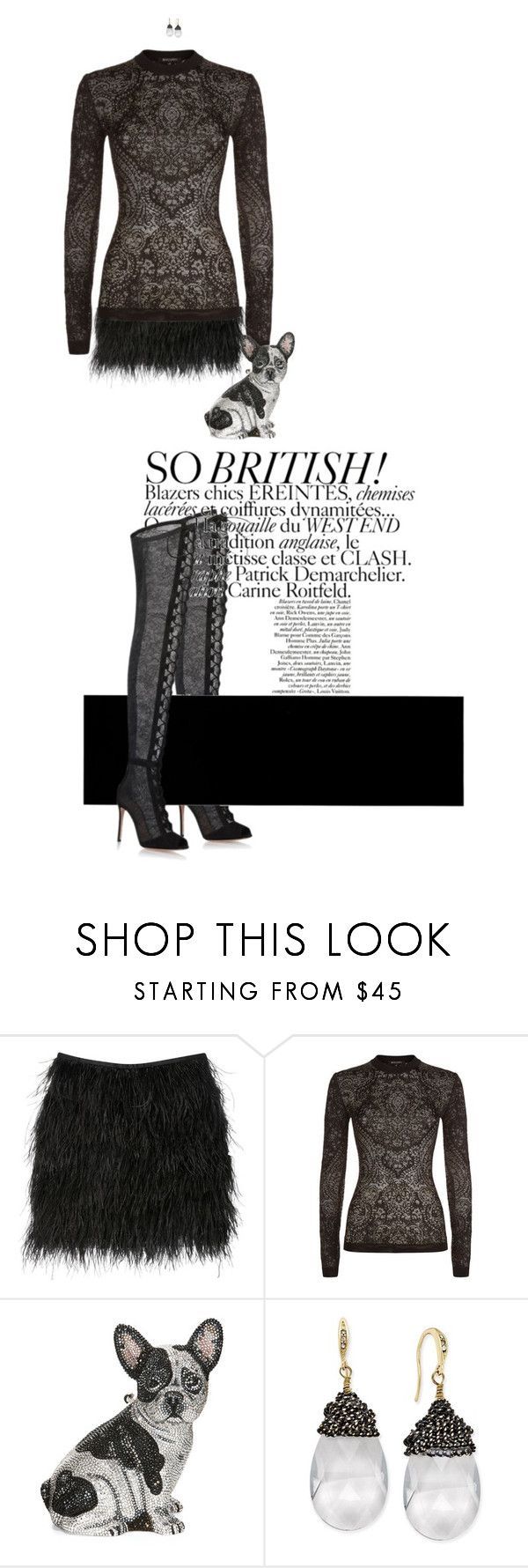 """""""Untitled #597"""" by diaval ❤ liked on Polyvore featuring Azzaro, Balmain, Judith Leiber, ABS by Allen Schwartz and Gianvito Rossi"""