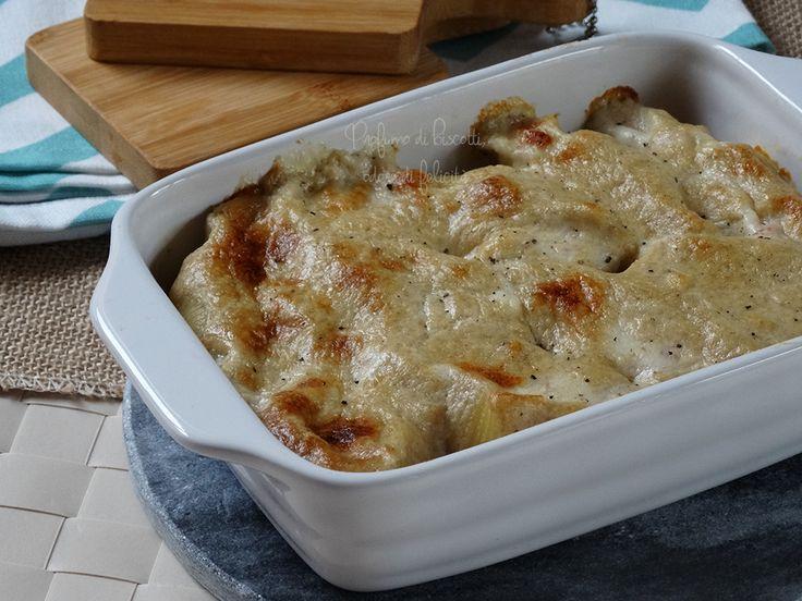 Prepariamo insieme i conchiglioni ripieni alle noci, un primo piatto gratinato al forno con una deliziosa crosticina in superficie e un profumo delizioso!