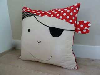 pirate pillow funny for kids DIY divertido cojin pirata para niños infantil piratenkussen