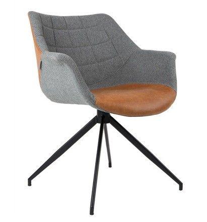 Een stoel met armleuning van het merk Zuiver. Het ontwerp is geïnspireerd door klassiekers uit de jaren 50' en 60' en past perfect bij zowel retro en industriële  als bij strak en modern. Perfect als eetkamerstoel maar zeker ook als een extra zitting in de woonkamer of als bureaustoel.  Verkrijgbaar in 3 kleuren in stof: Grijs/ grijs, grijs/ blauw, grijs/groen en één kleur in grijs/bruin (kunstleer).