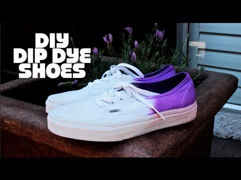 DIY Dip Dye Shoes ♡Materials Used♡ Tea Kettle or Pot Salt Stainless Steel Bowl or Sink Scrap Fabric Rit Fabric Dye in Purple ♡Purchased From Michael's Craft Store♡