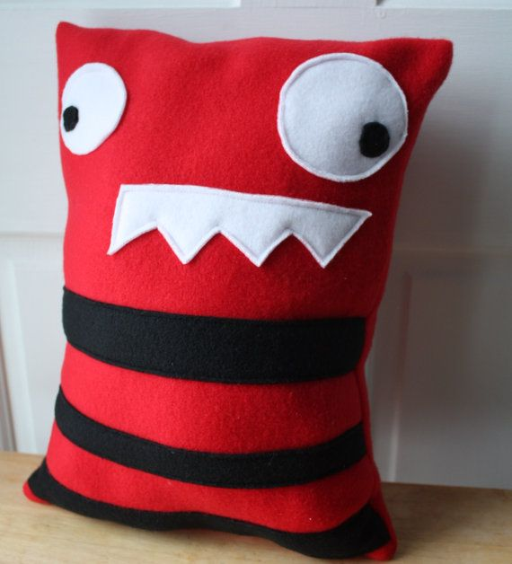 Erik the Red Monster Pillow Monster Plush by WildRabbitsBurrow, $22.00