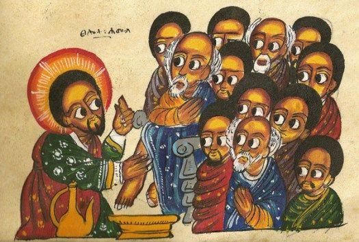 Lavanda dei piedi - icona Etiope