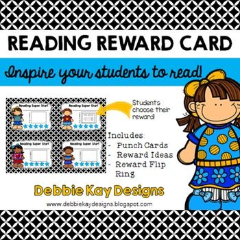 Reading Reward Cards - get students reading with this fun incentive!