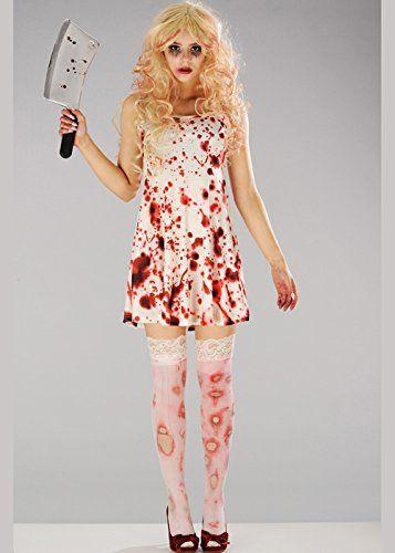 Frauen Halloween Zombie Bloody Kleid Kostüm