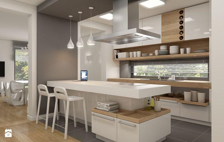 Znalezione obrazy dla zapytania elegancki salon z kuchnią