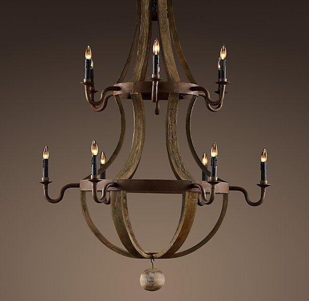 wine barrel chandelier our new dining room light