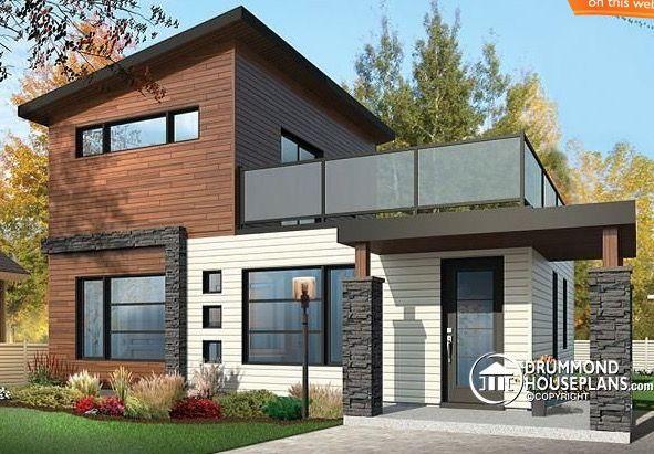 fachada casa grande plano de casa de dos pisos