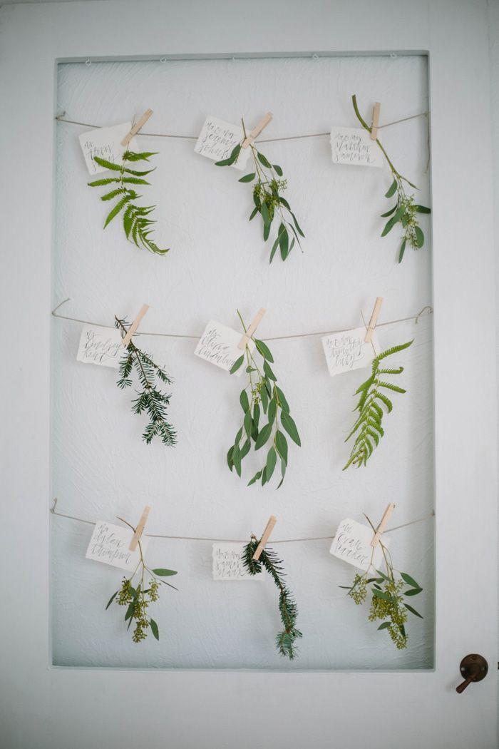 inspiration | botanical escort cards | via: grey likes weddings