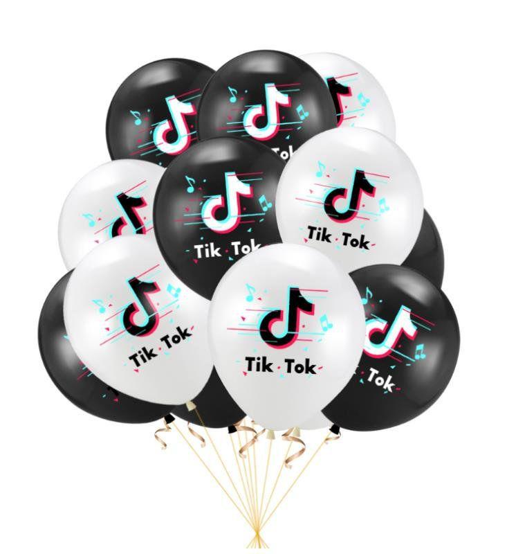Tiktok Tik Tok Balloons Set For Party Decoration Supplies Theme Celebration Childs Happy 10th Birthday Gender Reveal Party Decorations Reveal Party Decoration