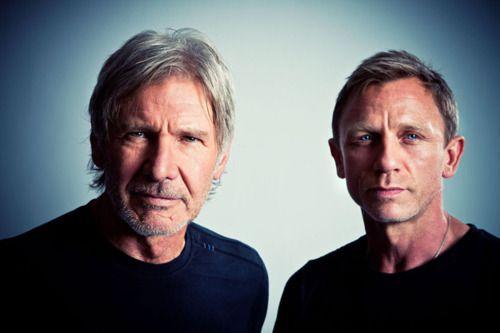 Harrison Ford and Daniel Craig, Harrison Ford is still soo good looking!