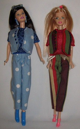 Fashion doll clothes made in the hoop embroidery