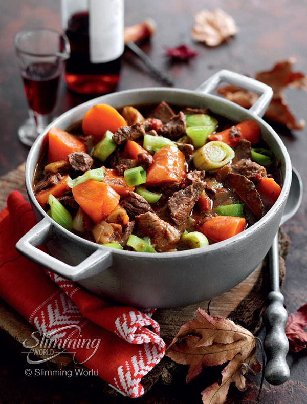 Love stews and casseroles? This tender beef and red wine is healthy and slimming-friendly!   http://www.slimmingworld.com/recipes/beef-and-red-wine-casserole.aspx