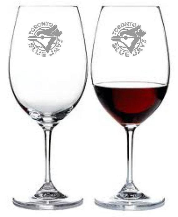 Toronto Blue Jays Wine Glass Set of 2 Sand by WulfCreekDesigns, $29.95