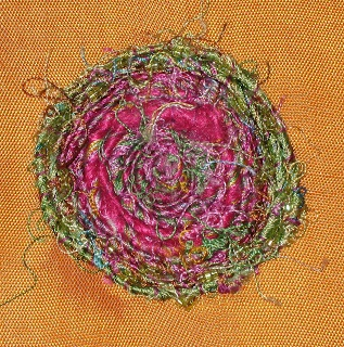 CAROLYN SAXBY MIXED MEDIA TEXTILE ART: Hand stitches and patchwork piecing