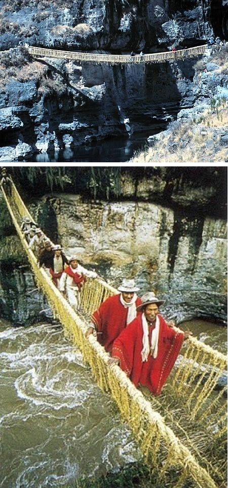 Inca Rope Bridge (Inca Empire, Peru)