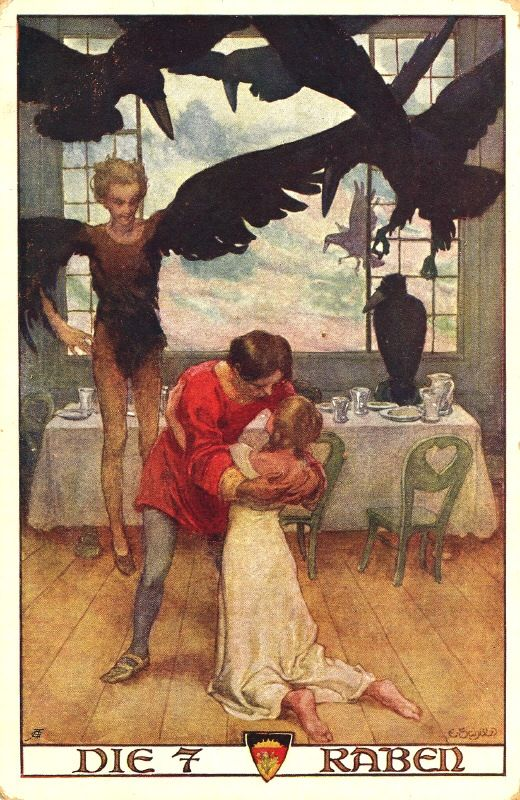 """""""The Seven Ravens"""", (don't know the Artist) from a wonderful Grimms FairyTale, here is the link to the Story: http://www.authorama.com/grimms-fairy-tales-55.html"""