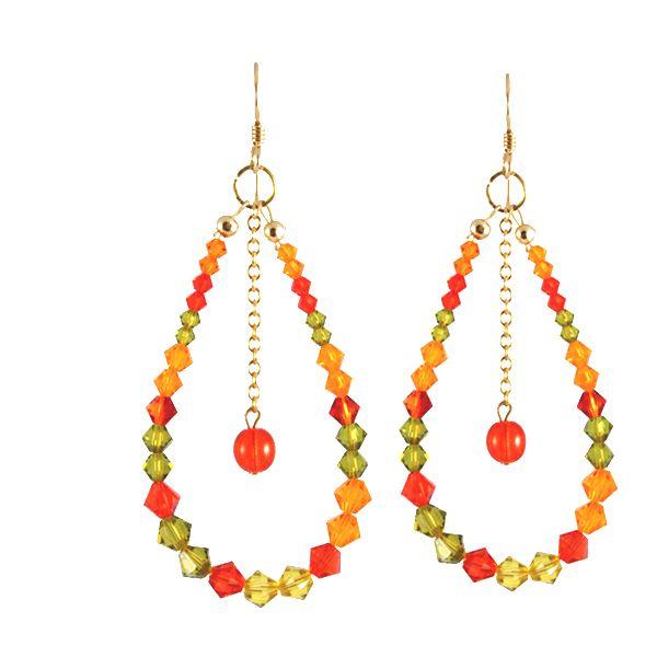 Swarovski Crystal Drops in Orange  Gold-Filled/$90
