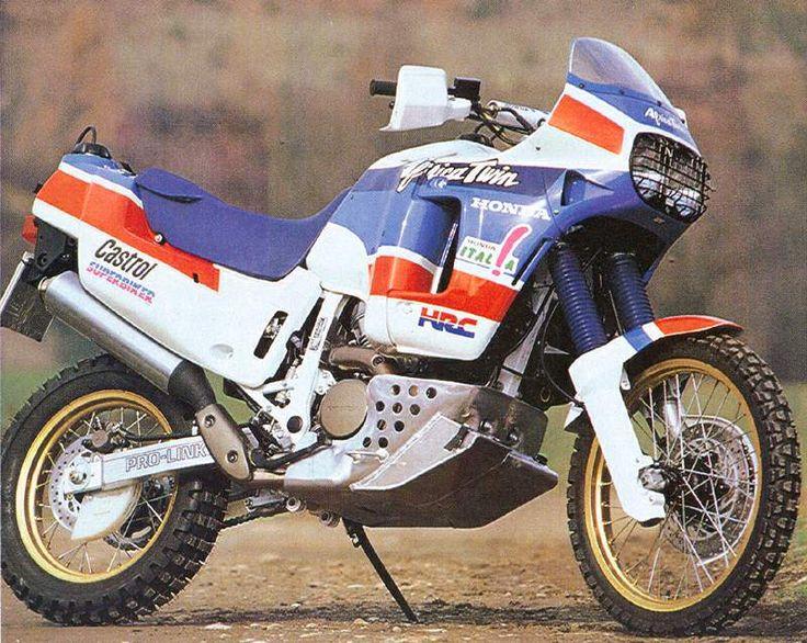 vintage Paris Dakar Rally Motorcycles | Honda XRV 650 Africa Twin Marathon