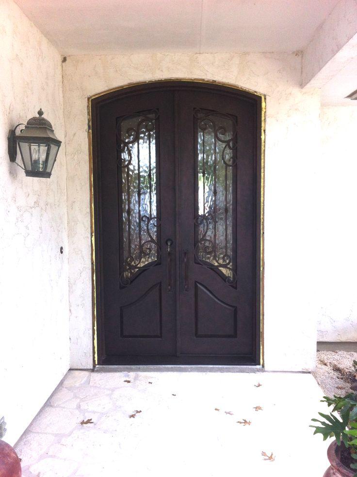 49 best wrought iron doors images on pinterest wrought for Best double front doors