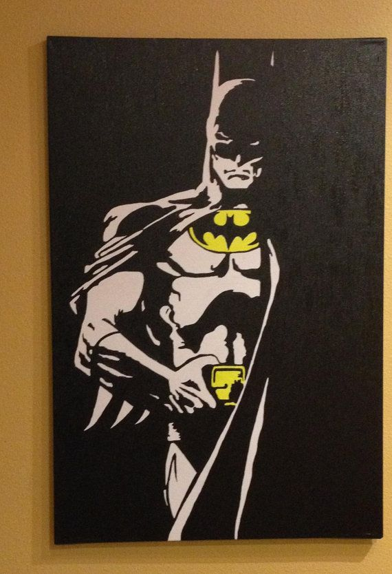 Batman Pop art 2ftx3ft HAND PAINTED by BrownStudios on Etsy, $120.00