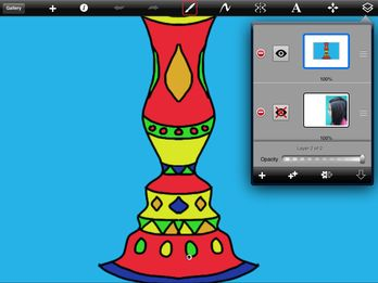 The possibilities of the Symmetry Button in Sketchbook Express app for iPad