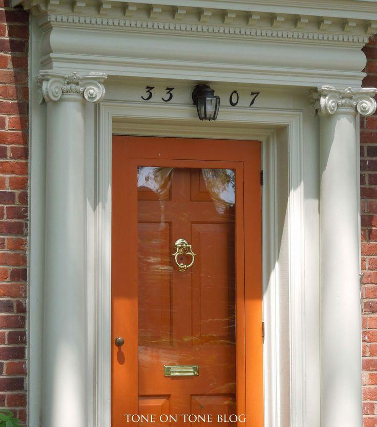 Wood storm door painted to match inside door, traditional storm door hardware