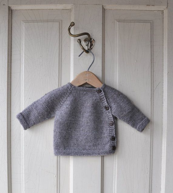 The sweetest button-up sweater for newborns!