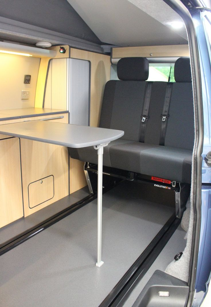 The latest Smartbed on rails.. slide the seat forward put the bikes in the rear or even slide your surfboards under the frameless bed.