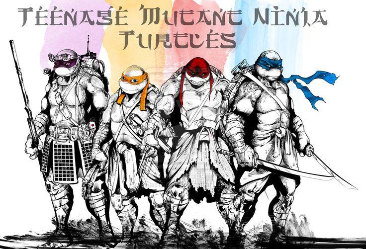 Heroes in a half shell. Turtle power! by SaintYak on deviantART #tmnt