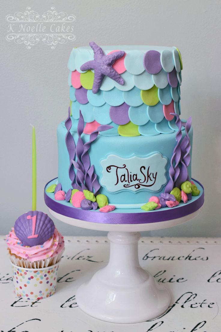 Mermaid 1st Birthday cake By K Noelle Cakes