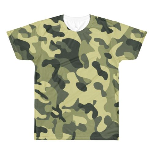 Camouflage All Over Print T-Shirt