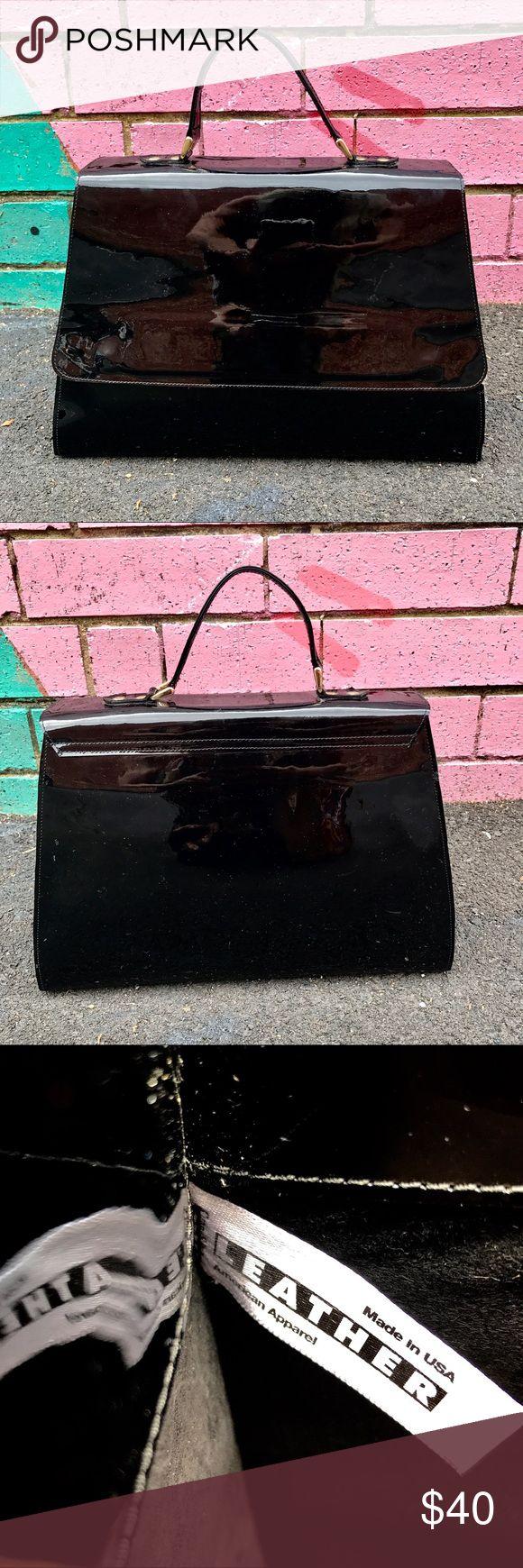 American Apparel Leather Handbag Brand new never used Spring x American Apparel patent leather handbag. Such a statement piece! American Apparel Bags