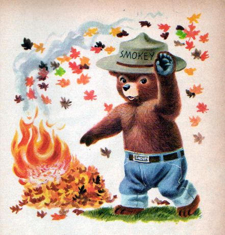 Smokey the Bear, Illustrations by Richard Scarry, 1955- Fall Leaves via http://gabrielcorbera.blogspot.com/