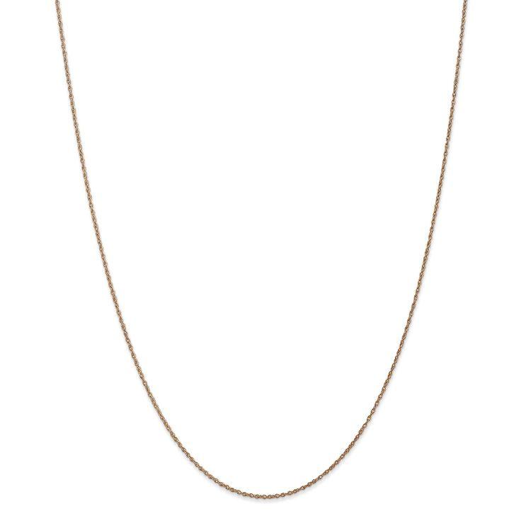 Versil 14k Gold 0.8mm Light-baby Rope Chain, Women's