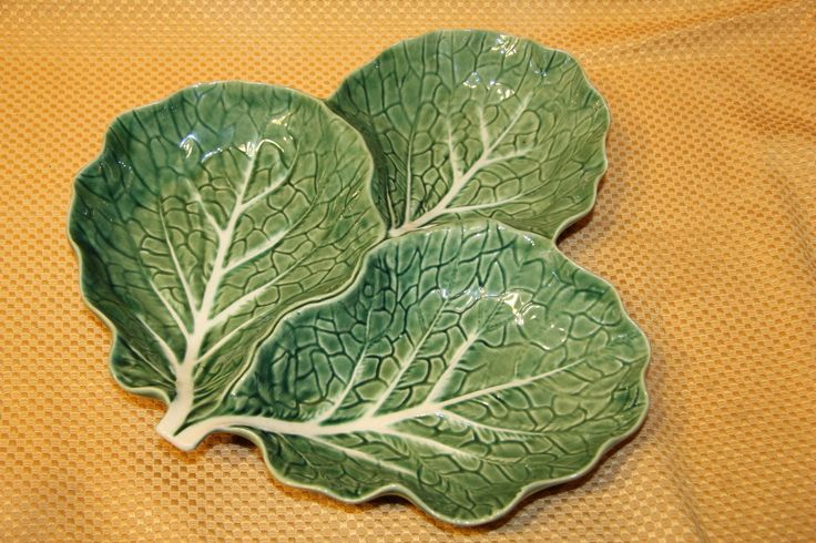 Details about bordallo pinheiro green cabbage majolica 3 - Bordallo pinheiro portugal ...