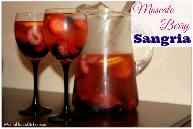 Need an easy recipe for a party drink? Look no further than this Moscato Berry Sangria, it uses four kinds of berries paired with your favorite wine.