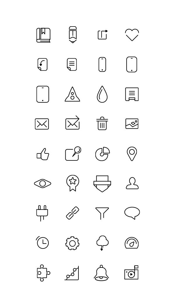 Free Icons Collection by s-pov spovv, via Behance