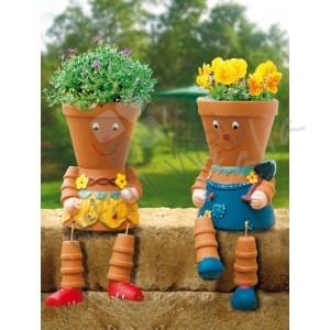 Cute little garden pot people!