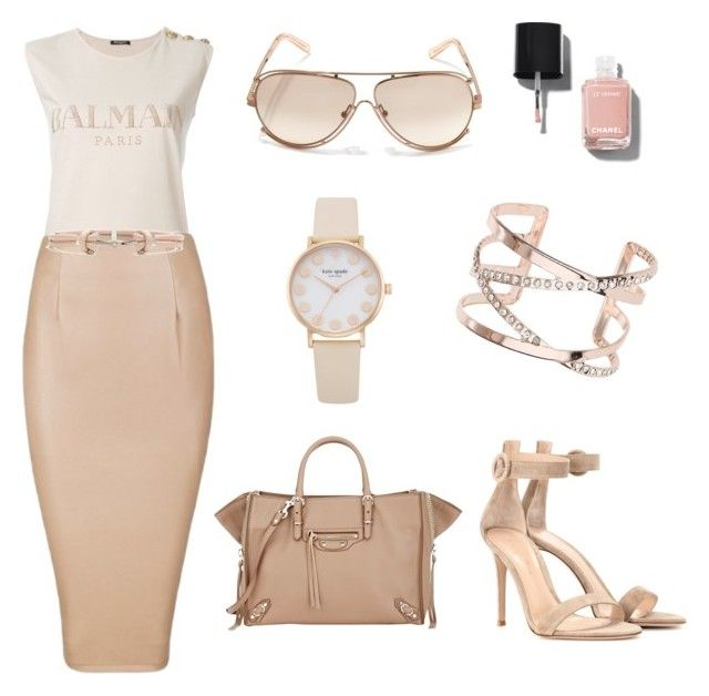 NUDES by zarastylinghq on Polyvore featuring polyvore, fashion, style, Balmain, Posh Girl, Gianvito Rossi, Balenciaga, Dorothy Perkins, Chloé, Alexander McQueen, Chanel and clothing