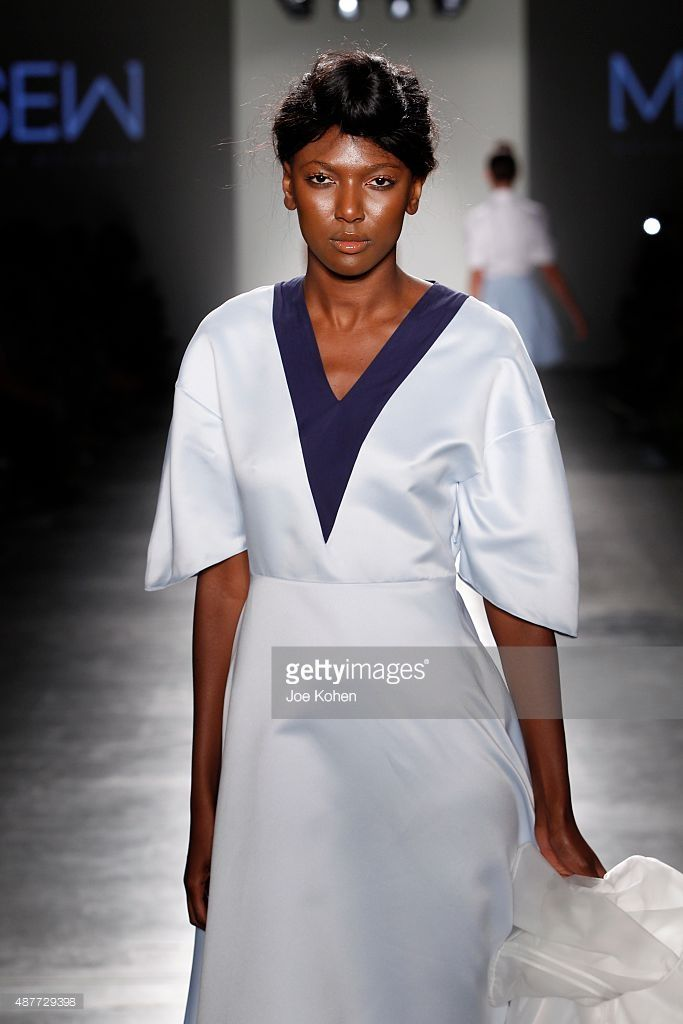 A model walks the runway at Harlem's Fashion Row Runway Spring 2016 New York Fashion Week on September 10, 2015 in New York City.
